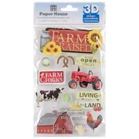 Paper House 3-D Sticker - Farm Raised