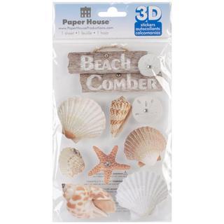 Paper House 3-D Sticker - Beach Comber