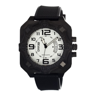 Breed Men's Black Silicone 'Ulysses' White Analog Watch