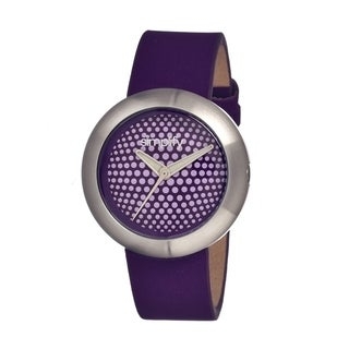 Simplify Women's 'The 1200' Purple Leather Strap Analog Watch