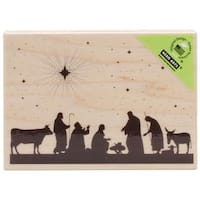 Hero Arts Mounted Rubber Stamps 2.75 X4  - Nativity