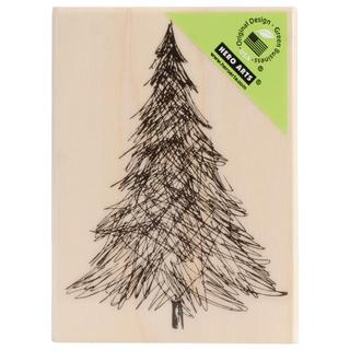 Hero Arts Mounted Rubber Stamps 3.25 X2.25  - Pen & Ink Christmas Tree