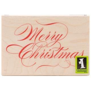 Inkadinkado Christmas Mounted Rubber Stamp 2.75 X4 - Merry Christmas