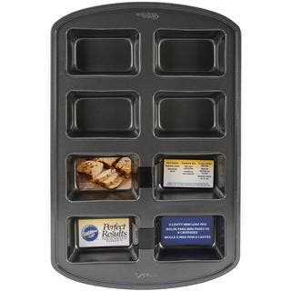 Perfect Results Mini Loaf Pan - 8 Cavity 3.8 X2.5|https://ak1.ostkcdn.com/images/products/8780399/P16019778.jpg?impolicy=medium