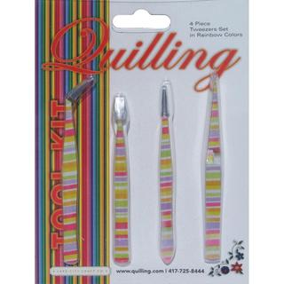 Tweezer Set 4pc - Rainbow