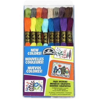 DMC Embroidery Floss Pack 8.7 Yards 16/Pkg - New Floss Colors
