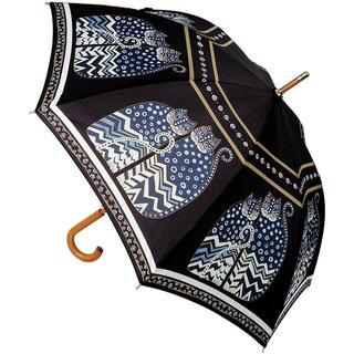 Laurel Burch Stick Umbrella 42 Canopy Auto Open - Polka Dot Cats
