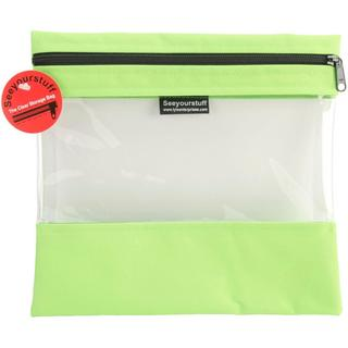 Seeyourstuff Clear Storage Bags 10 X11 - Lime