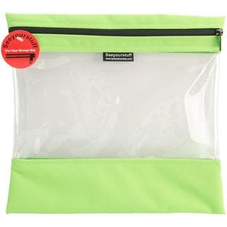 Seeyourstuff Clear Storage Bags 12 X13 - Lime