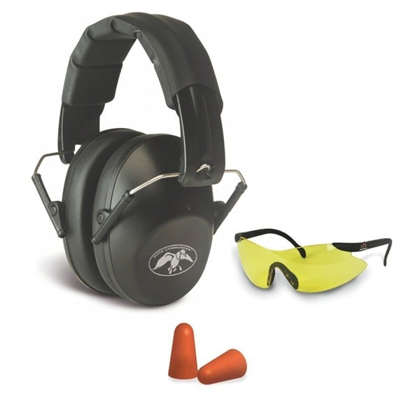Duck Commander Walker's Low Profile Folding Ear Muff/ Safety Glasses/ Ear Plug Set