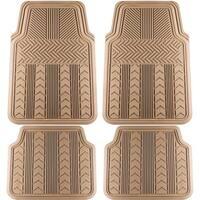 OxGord Rubber 4-piece Arrow-style Floor Mat Set