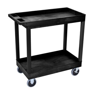 Luxor EC111HD-B 3-shelf High-capacity Tub Cart