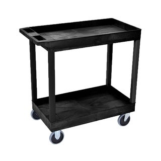 Luxor EC11HD-B 2-shelf High-capacity Tub Cart