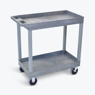 Luxor 32 x 18 Two Shelves Grey Tub Cart