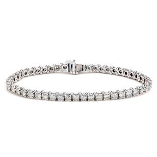 Diamonds For A Cure 14k White Gold 6 1/6ct TDW Tennis Bracelet (G-H, SI1-SI2)