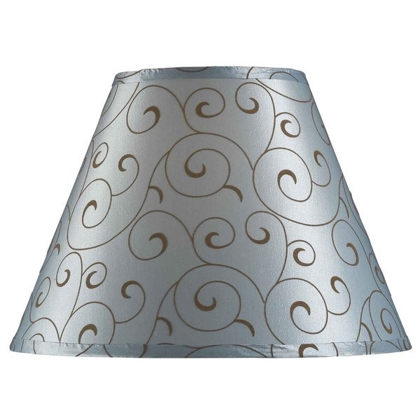 design match 15 inch blue velvet flocked lamp shade free. Black Bedroom Furniture Sets. Home Design Ideas