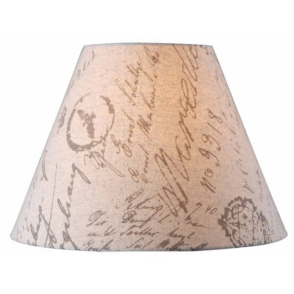 Design Match 15 Inch Beige French Print Lamp Shade