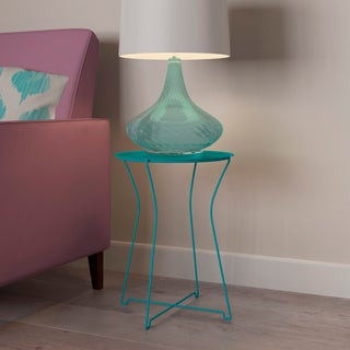 mission sycamore metal side table