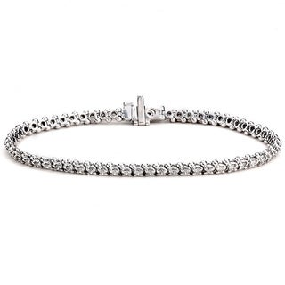 Diamonds For A Cure 14k White Gold 2ct TDW Bracelet (G-H, SI1-SI2)