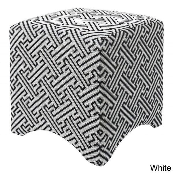 18-inch Cube Contemporary Maze Ottoman
