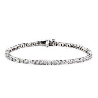 Diamonds For A Cure 14k White Gold 3ct TDW Tennis Bracelet (G-H, SI1-SI2)