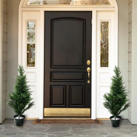Romano 3-foot Indoor/ Outdoor Topiary Cedar Trees (Set of 2)
