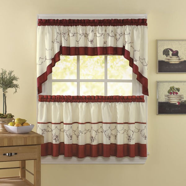 Shop Grace Cinnabar 5 Piece Curtain Tier And Swag Set