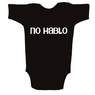 Unique Boutique Neutral 'No Hablo' Black Bodysuit