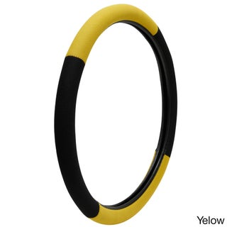 Oxgord Universal 15-inch Auto Steering Wheel Cover for Cars Trucks SUVs and Vans (Option: Yellow)