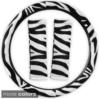 Oxgord Safari Zebra/ Tiger Plush Auto Steering Wheel Cover and Belt Pads Set|https://ak1.ostkcdn.com/images/products/8784600/Oxgord-Safari-Zebra-Tiger-Plush-Auto-Steering-Wheel-Cover-and-Belt-Pads-Set-P16023299.jpg?impolicy=medium