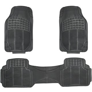 Oxgord Ridged Style Rugged 3-piece PVC Rubber Floor Mats Set