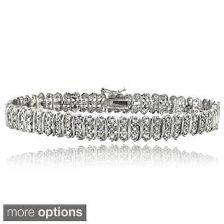 DB Designs 1ct TDW Diamond S Pattern Bracelet (I-J, I2-I3)