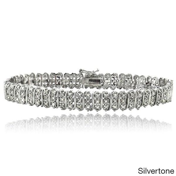 DB Designs 1ct TDW Diamond S Pattern Bracelet