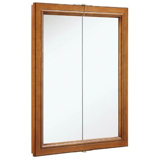 Design House 541383 Montclair 30-inch Chestnut Glaze Double-door Medicine Cabinet Mirror