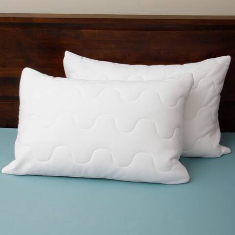 Coolmax Wicking Pillow Protectors Set of 2 by Cozy Classics