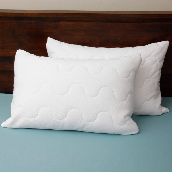 Coolmax Wicking Performance Quilted Pillow Protectors (Set of 2)
