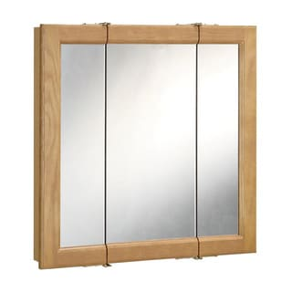 Design House 530568 Richland 30-inch 3-door Nutmeg Oak Tri-View Medicine Cabinet Mirror