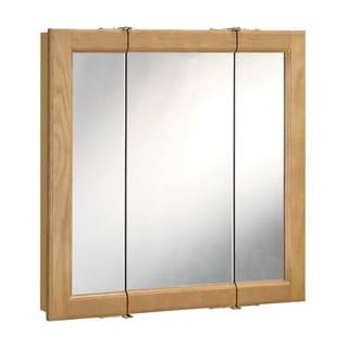 Design House 530584 Richland 48-inch 3-door Nutmeg Oak Tri-View Medicine Cabinet Mirror