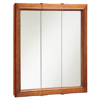 Design House 541391 Montclair 30-inch Chestnut Glaze Triple-door Medicine Cabinet Mirror