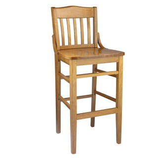 Schoolhouse Wooden Bar Stool (More options available)