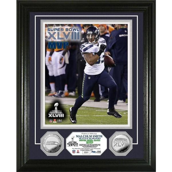Seattle Seahawks Super Bowl 48 Champions 'MVP' Silver Coin Photo Mint