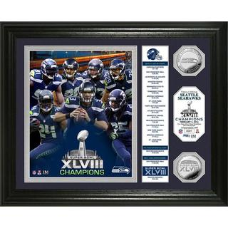 Seattle Seahawks Super Bowl 48 Champions 'Banner' Silver Coin Photo Mint