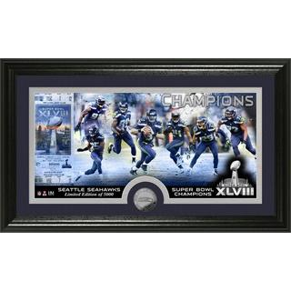 Seattle Seahawks Super Bowl 48 Champions Minted Coin Panoramic Photo Mint