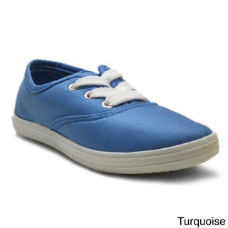 Blue Kids 'K-Riley' Bright Canvas Sneakers