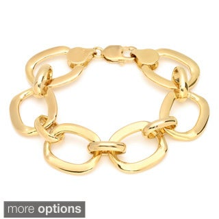 Sterling Essentials 14k Goldplated Bronze 8.5-inch O Link Bracelet