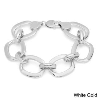 Sterling Essentials 14k Goldplated Bronze 8.5-inch O Link Bracelet