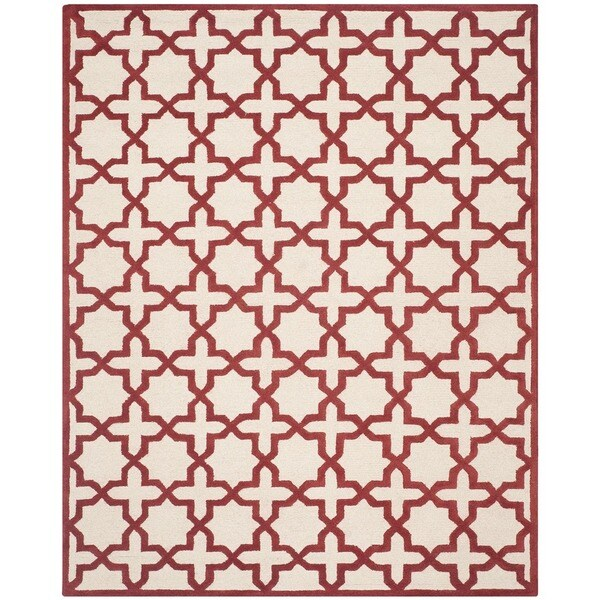 Safavieh Handmade Moroccan Cambridge Ivory/ Rust Wool Rug (8' x 10')