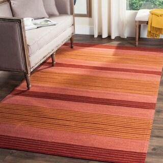 Safavieh Hand-woven Marbella Rust Wool Rug (6' x 9')