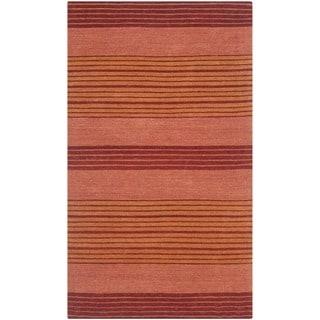 Safavieh Handmade Marbella Kathchen Modern Wool Rug (8 x 10 - Rust)