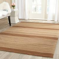 Safavieh Hand-woven Marbella Beige/ Brown Wool Rug - 5' x 8'